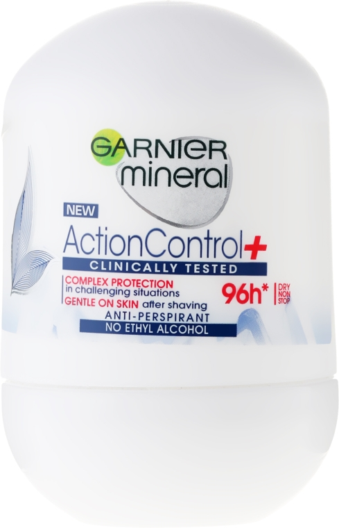 Deo Roll-on Antitranspirant - Garnier Mineral Action Control Clinically 96H Anti-Perspirant Roll-On