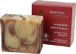 Düfte, Parfümerie und Kosmetik Natürliche Seife mit Zimt und Kakao - Apeiron Cinnamon & Cocoa Winter Soap
