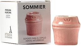 Düfte, Parfümerie und Kosmetik Zahnbürstenhalter aus Porzellan hellrot - NaturBrush Sommier Toothbrush Holder