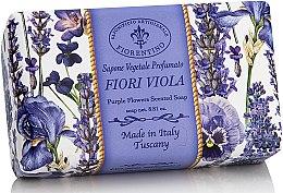 Düfte, Parfümerie und Kosmetik Naturseife Purple Flowers - Saponificio Artigianale Fiorentino Purple Flowers Scented Soap Armonia Collection
