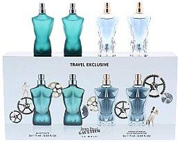 Düfte, Parfümerie und Kosmetik Jean Paul Gaultier Le Male - Duftset (Eau de Toilette 7ml + Eau de Toilette 7ml + Eau de Parfum 7ml + Eau de Parfum 7ml)