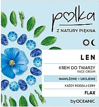Düfte, Parfümerie und Kosmetik Feuchtigkeitsspendende und beruhigende Gesichtscreme mit Lein - Polka Face Cream
