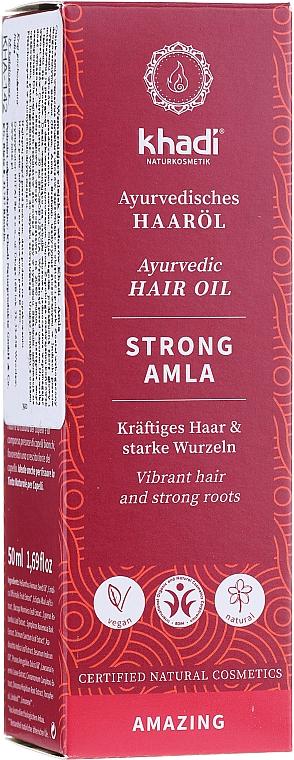 Ayurvedisches kräftigendes Haaröl für starke Wurzeln - Khadi Ayuverdic Strong Amla Hair Oil