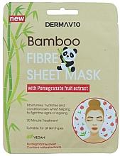Düfte, Parfümerie und Kosmetik Tuchmaske für das Gesicht mit Granatapfel - Derma V10