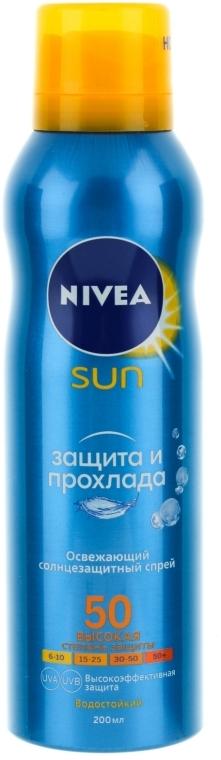 Erfrischendes wasserfestes Sonnenschutzspray für den Körper SPF 50 - Nivea Sun Care — Bild N2
