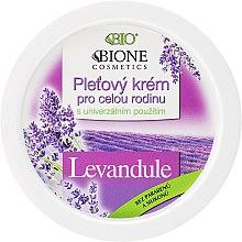 Düfte, Parfümerie und Kosmetik Pflegende Gesichtscreme mit Lavendel für die ganze Familie - Bione Cosmetics Lavender Facial Cream Whole Family