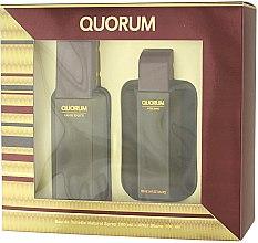 Düfte, Parfümerie und Kosmetik Antonio Puig Quorum - Duftset (Eau de Toilette 100ml + After Shave 100ml)