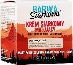 Düfte, Parfümerie und Kosmetik Mattierende Gesichtscreme mit Schwefel - Barwa Anti-Acne Cream Sulfuric