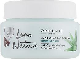 Düfte, Parfümerie und Kosmetik Beruhigende Gesichtscreme - Oriflame Love Nature Hydrating Face Cream