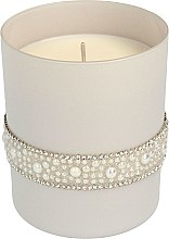 Düfte, Parfümerie und Kosmetik Duftkerze Crystal Pearl grau 8x 9,5 cm - Artman Crystal Glass Pearl
