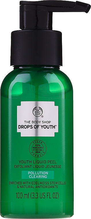 Flüssiges Gesichtspeeling mit Edelweiß-, Stranddistel- und Meerfenchel-Stammzellen - The Body Shop Drops of Youth