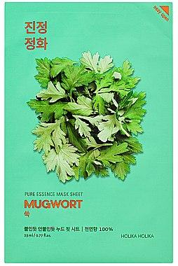 Tuchmaske mit Wermutkraut-Extrakt - Holika Holika Pure Essence Mask Sheet Mugwort