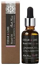 Düfte, Parfümerie und Kosmetik Bath House Cuban Cedar & Lime - Natürliches Bartöl mit Traubenkern-, Limetten- und Zedernholzöl
