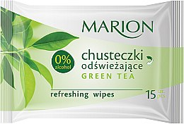 Düfte, Parfümerie und Kosmetik Erfrischende Feuchttücher mit grünem Tee 15 St. - Marion