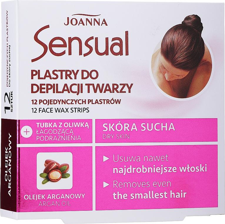 Enthaarungswachsstreifen für das Gesicht mit Arganöl - Joanna Sensual Depilatory Face Strips