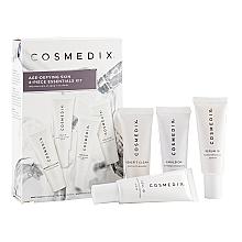 Düfte, Parfümerie und Kosmetik Gesichtspflegeset - Cosmedix Age Defying Skin 4-Piece Essentials Kit (Schonendes Reinigungsmittel 15ml + Gesichtsserum 15ml + Gesichtsserum 15ml + Gesichtscreme 15ml)