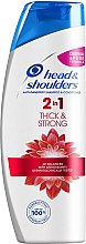 "Düfte, Parfümerie und Kosmetik 2in1Anti-Shuppen Shampoo und Conditioner ""Thick & Strong"" - Head & Shoulders Thick & Strong"