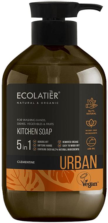 Flüssige Küchenseife mit Clementine - Ecolatier Urban Liquid Soap