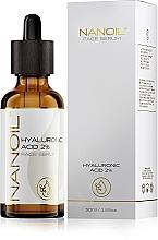 Düfte, Parfümerie und Kosmetik Feuchtigkeitsspendendes Gesichtsserum mit Hyaluronsäure - Nanoil Face Serum Hyaluronic Acid 2%