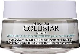 Düfte, Parfümerie und Kosmetik Gesättigte Glykolsäurecreme für perfekte Haut - Collistar Pure Actives Glycolic Acid Rich Cream SPF20