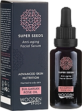 Düfte, Parfümerie und Kosmetik Anti-Aging Gesichtsserum mit bulgarischem Rosenöl - Wooden Spoon Super Seeds Bulgarian Rose Oil Anti-aging Facial Serum
