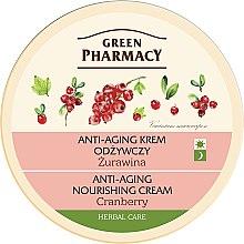 Düfte, Parfümerie und Kosmetik Pflegende Anti-Aging Gesichtscreme mit Preiselbeere - Green Pharmacy Anti-Aging Nourishing Cream