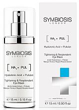 Düfte, Parfümerie und Kosmetik Straffende Maske für die Augenpartie mit Pullulan und Hyaluronsäure - Symbiosis London Tightening & Resplendent Eye Mask