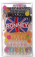Düfte, Parfümerie und Kosmetik Haargummis Farb-Mix 6 St. №15 - Ronney Professional Funny Ring Bubble 15