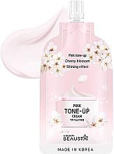 Düfte, Parfümerie und Kosmetik Erfrischende Gesichtscreme mit weißem Blütenextrakt - Beausta Pink Tone-Up Cream