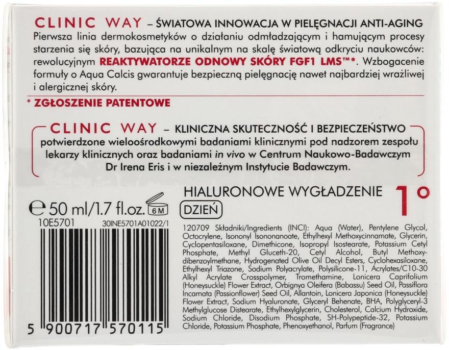 Glättende Anti-Falten Gesichtscreme mit Hyaluronsäure - Dr Irena Eris Clinic Way 1° anti-wrinkle care — Bild N2