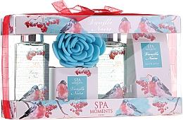 Düfte, Parfümerie und Kosmetik Körperpflegeset - Spa Moments Vanille Noire (Duschgel 2x100ml+Badesalz 50g+Seife 50g+Badeschwamm)