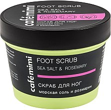Düfte, Parfümerie und Kosmetik Fußpeeling mit Meersalz und Rosmarin - Cafe Mimi Foot Scrub