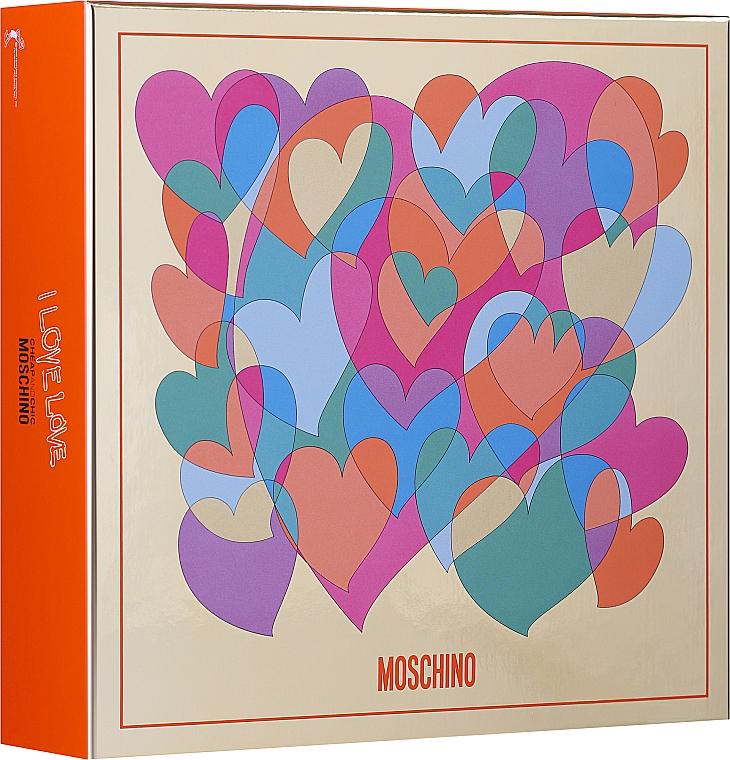 Moschino I Love Love - Duftset (Eau de Parfum/30ml + Körperlotion/ 50ml)