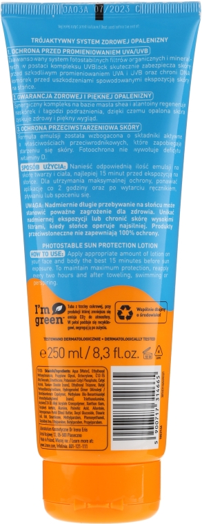 Wasserfeste Sonnenschutzlotion SPF 50 - Lirene Sun Care SPF50 — Bild N3