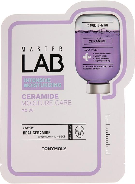 Feuchtigkeitsspendende Tuchmaske für das Gesicht mit Ceramiden - Tony Moly Master Lab Ceramide Mask