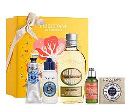 Düfte, Parfümerie und Kosmetik Körperpflegeset - L'Occitane Best Seller (Handcreme 30ml + Körperlotion 75ml + Duschöl 250ml + Shampoo 35ml + Seife 100g)