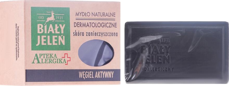 Dermatologische Körperseife mit Aktivkohle - Bialy Jelen Apteka Alergika Soap
