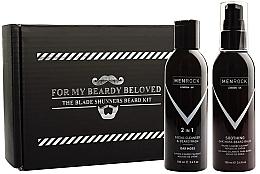 Düfte, Parfümerie und Kosmetik Bartpflegeset - Men Rock Oak Moss Beard Wash & Balm Set (Bartshampoo 100ml + Bartbalsam 100ml)