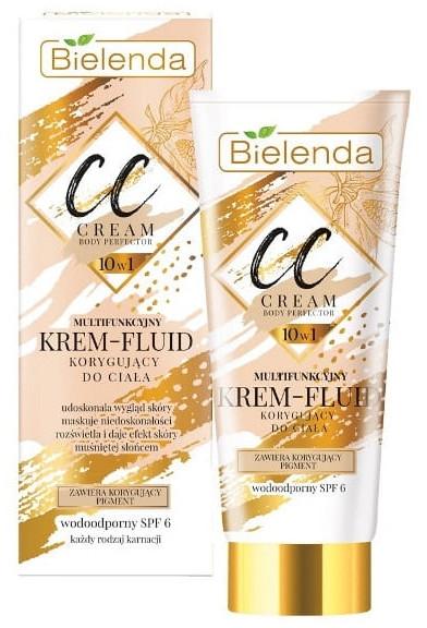 10in1 Multifunktionale und wasserfeste CC Creme LSF 6 - Bielenda Magic CC 10in1 Body Correction Cream Waterproof Tanning Effect SPF6