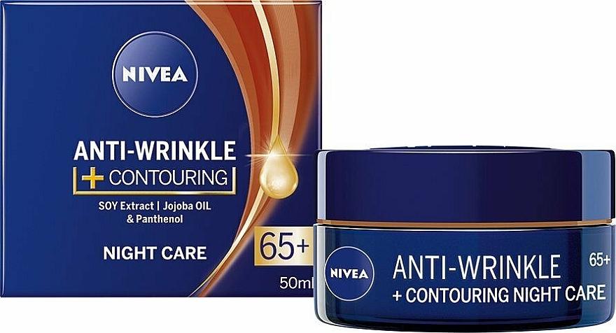 Konturierende Anti-Falten Nachtpflege für das Gesicht 65+ - Nivea Anti-Wrinkle Contouring Night Care 65+