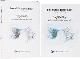 Düfte, Parfümerie und Kosmetik Feuchtigkeitsspendende Tuchmaske für das Gesicht Norwegen - Calluna Medica Norway Deeply Moisturizing Biocellulose Facial Mask