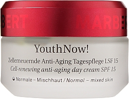 Düfte, Parfümerie und Kosmetik Zellerneuernde Anti-Aging Tagespflege mit LSF 15 - Marbert YouthNow! Cell-Renewing Anti-Aging Day Care SPF 15