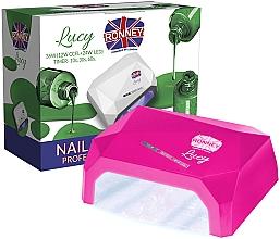 Düfte, Parfümerie und Kosmetik CCFL/LED Lampe für Nageldesign dunkelpink - Ronney Profesional Lucy CCFL + LED 38W (GY-LCL-021) Lamp