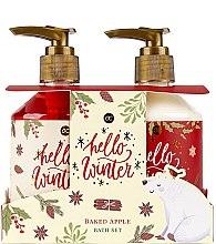Düfte, Parfümerie und Kosmetik Körperpflegeset - Accentra Hello Winter Baked Apple Bath Set (Duschgel 250ml + Körperlotion 250ml)