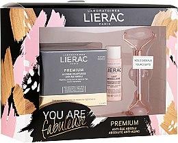 Düfte, Parfümerie und Kosmetik Gesichtspflegeset - Lierac Premium Anti-Age Absolu Set (Gesichtscreme 50ml + Gesichtsmilch 30ml + Massageroller 1 St.)