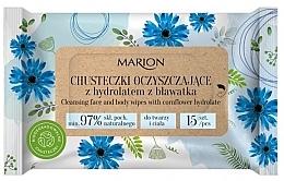 Düfte, Parfümerie und Kosmetik Reinigungstücher für Körper und Gesicht mit Kornblumenhydrolat 15 St. - Marion