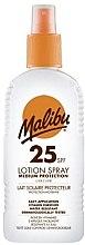 Düfte, Parfümerie und Kosmetik Wasserdichter Sonnenschutzspray SPF 25 - Malibu Sun Lotion Spray Medium Protection Water Resistant SPF 25