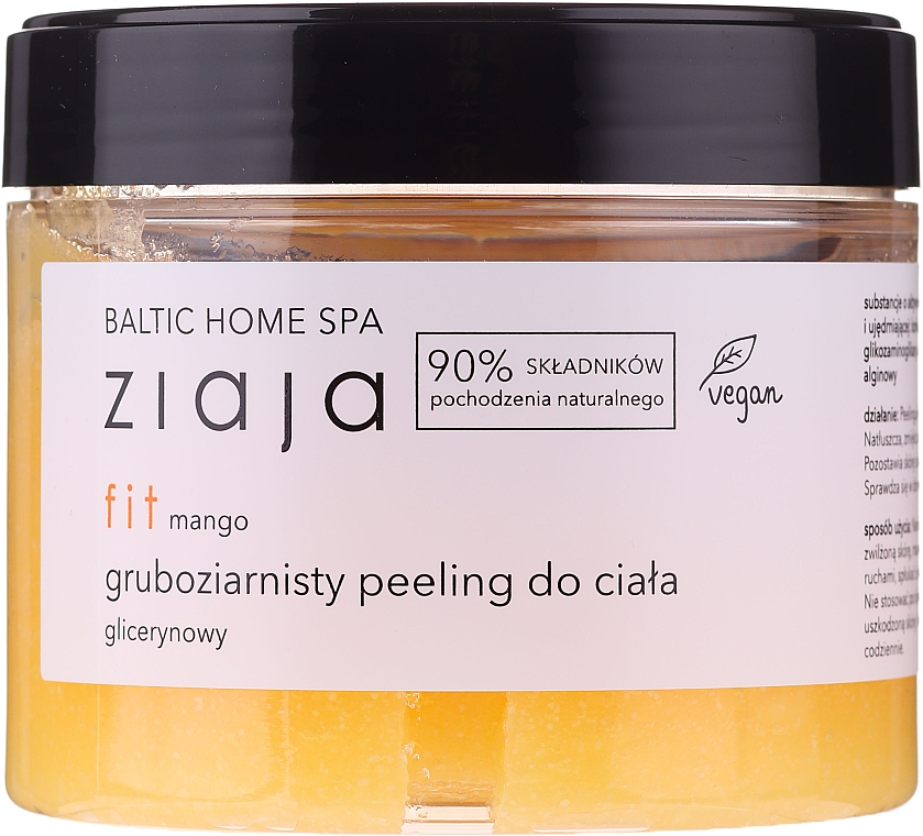 Glättendes und erweichendes Glycerin-Körperpeeling mit Makrogranulat und Mangoduft - Ziaja Baltic Home SPA Body Peeling