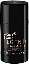 Düfte, Parfümerie und Kosmetik Montblanc Legend Night Stick - Deo-Stick