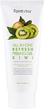 Düfte, Parfümerie und Kosmetik Peeling-Gel für das Gesicht mit Kiwi - FarmStay All-In-One Refresh Peeling Gel Kiwi
